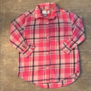 "Old navy ""boyfriend"" flannel Size S(6/7)"